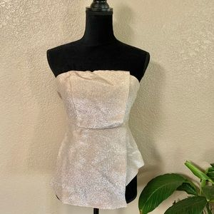 Top shop gold tube top size 4
